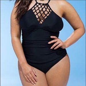 Swimsuits for all macrame front swimsuit